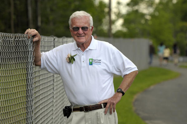 William O'Neill, of Manchester, poses for a portrait along the Charter Oak Greenway in Manchester.