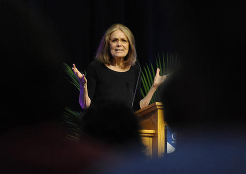 Feminist Gloria Steinem is Keynote Speaker at Lehigh Valley Women's Summit held at Cedar Crest College in Allentown Thursday.