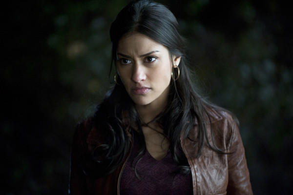 "Shapeshifter Luna Garza (Janina Gavankar) and boyfriend Sam fight for their lives in the new season of ""True Blood."""