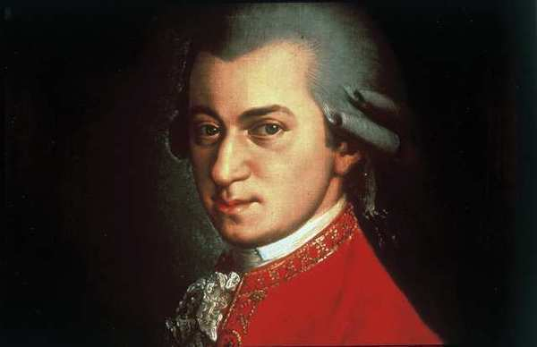 Don Campbell argued that there are beneficial effects from listening to the music of Wolfgang Amadeus Mozart, seen in a portrait by Johann Nepomuk della Croce.