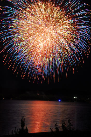 Fireworks are at dusk Saturday, June 16, over Lake Charlevoix's South Arm