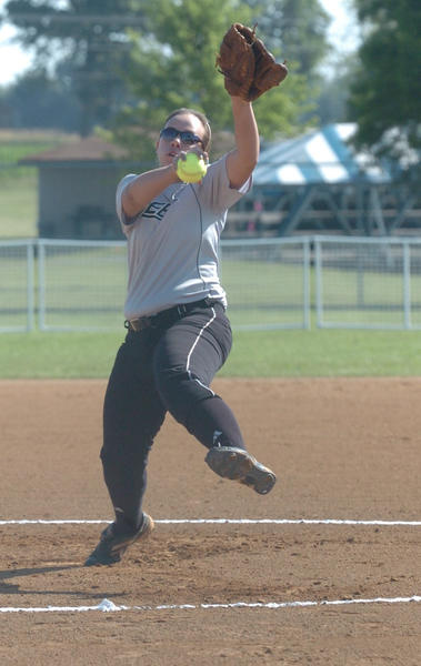 KK Davis struck out eight and walked one Friday in an 8-0 win over Estill County.