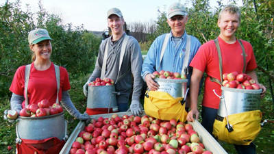 Friske Orchards' 50th anniversary event is Friday, June 15. Pictured are (from left) Heidi (Friske) Drost, Richie Friske, Richard Friske and Jonathan Friske.