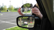 Ever had trouble checking behind you while driving? Now there's a newly patented side-view mirror that claims to eliminate that pesky blind spot.