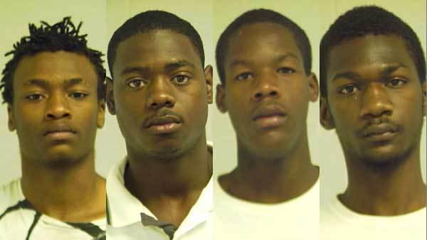 From left: Robert Harrison, Raymond LeFlore, Darius Nash, Joseph White
