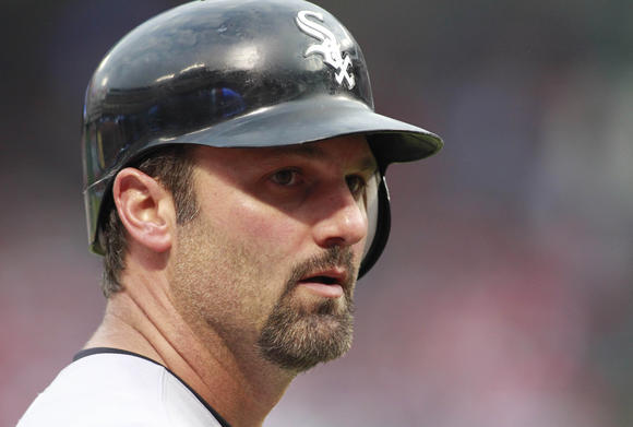 Konerko back at first