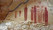 Hiking to see pictograph art in Horseshoe Canyon, Utah
