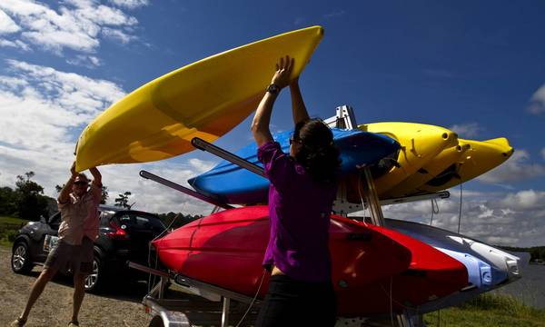 Shannon Alexander and her father, Alan Alexander, own Bay County Kayaking, which offers two- to four-hour guided tours of areas in Gloucester in Mathews counties.