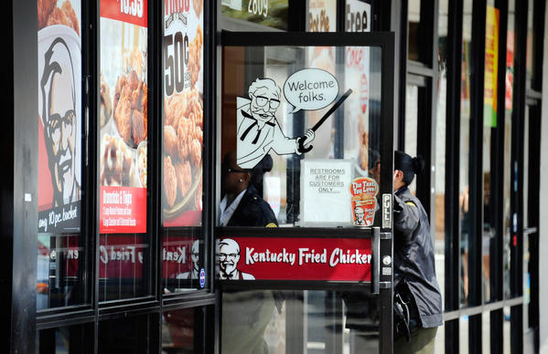 A Kentucky Fried Chicken location.