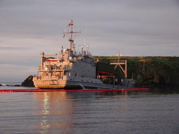 U.S. Army Vessel Grounds Near Kodiak to Avoid Sinking