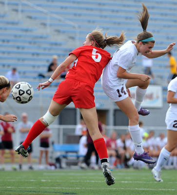 Whitehall plays against Cumberland Valley for the PIAA spring high school girls soccer state championship at Hersheypark Stadium on Saturday afternoon.