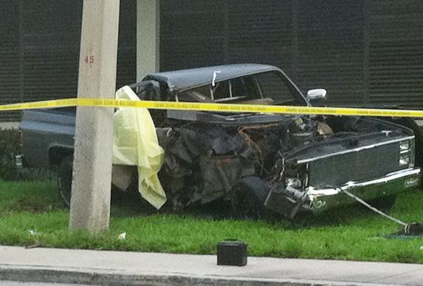 Witnesses said man was speeding and lost control of truck