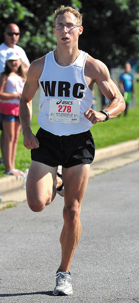 Tony Clement won the Nick Adenhart 5K for the second straight year Saturday in Williamsport. See story, B1.
