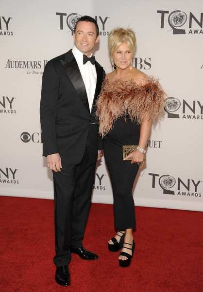 Tony Awards 2012 | Red carpet: Hugh Jackman and his wife Deborra-Lee Furness.