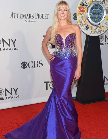 Tony Awards 2012: The Best and Worst moments: Laura Bell Bundy dressed to impress at the 2012 Tony Awards - impress the C-list celebrities judging the Miss USA pageant. We recommend you treat her shiny frock like an eclipse and not stare directly at it.   -- Andrea Reiher, Zap2it