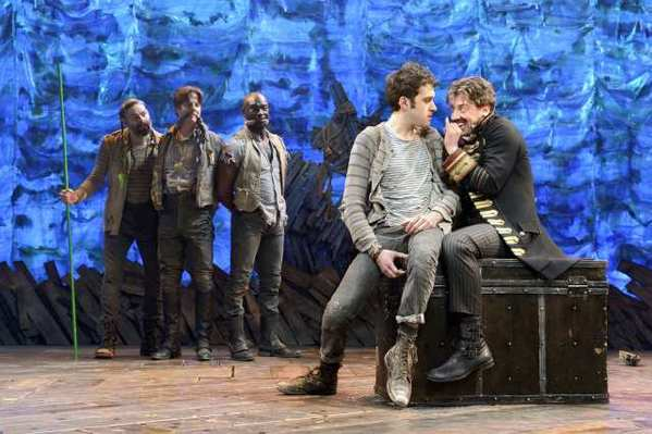 "A scene from ""Peter and the Starcatcher"" at the Brooks Atkinson Theatre in New York."