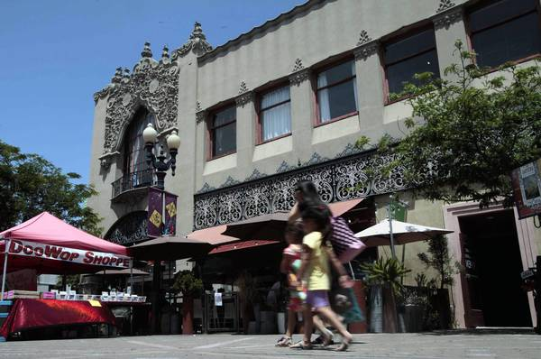 The Santora is a Spanish Colonial Revival building at the heart of Santa Ana's Artists Village. An Orange County church, Newsong, is in the process of buying the art-inhabited space on Broadway.
