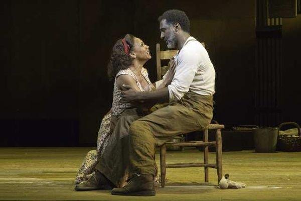 "Audra McDonald and Norm Lewis in ""The Gershwins' Porgy and Bess"" at the Richard Rodgers Theatre in New York."