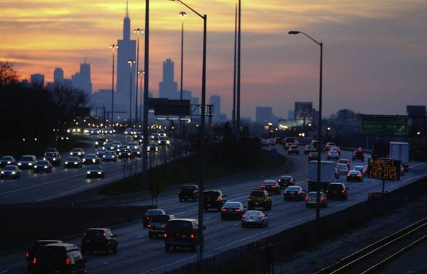 Access to the Eisenhower Expressway at Austin and Harlem avenues would be shifted to right-hand ramps under a plan from the Illinois Department of Transportation.