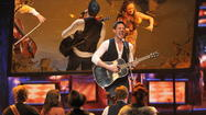"Steve Kazee sings with the cast of ""Once"" during the 66th Annual Tony Awards broadcast."