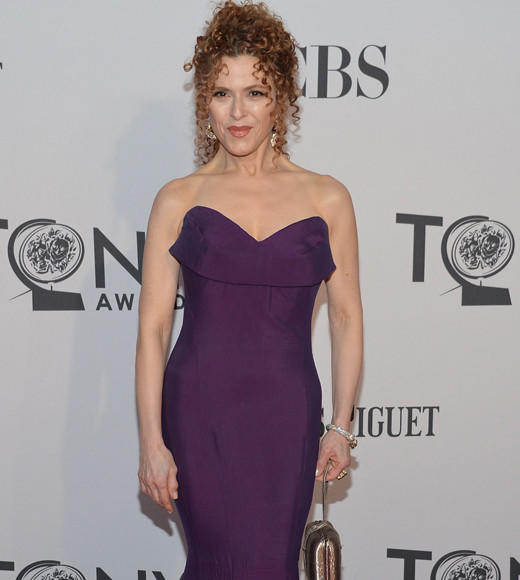 Tony Awards 2012: The Best and Worst moments: Bernadette Peters signature corkscrew red curls look simply smashing with her deep purple gown. Can you believe shes 64 years old? Werk, girlfriend.  -- Andrea Reiher, Zap2it