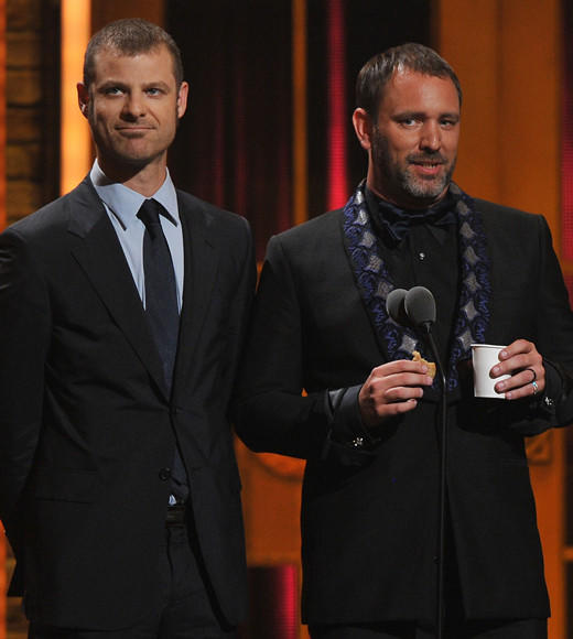 Tony Awards 2012: The Best and Worst moments: The South Park creators presented the Best Musical Tony Award, having been last years winners in the category for Book of Mormon. They came out nibbling biscuits and speaking with slightly British accents.  Matt Stone: Winning the Tony Award for Best Musical changes ones life forever. Youre transformed from an artist to an artiste. From a child to an adult. From a lowly caterpillar to a beautiful butterfly.  Trey Parker: Tonight we, who are the Broadway establishment, are pleased and ho-nor-ed to welcome this years nominees for Best Musical. You young whippersnappers, who so desperately seek to join our ranks.  Heh. We have nothing to add.   -- Andrea Reiher, Zap2it