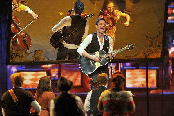 "Steve Kazee and the cast of ""Once"" perform at the Tony Awards."