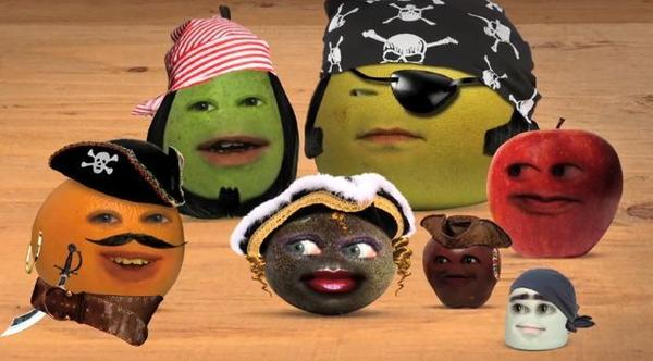 "The ""Annoying Orange"" fruits are pirates in the series premiere on Cartoon Network."