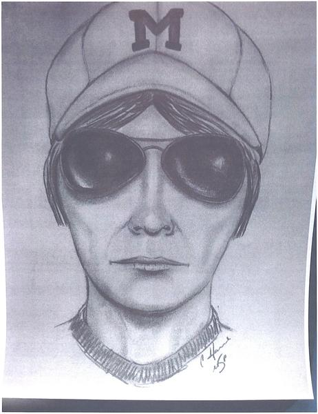 Some time after the bank robbery in Pellston, authorities released this sketch of the suspect.