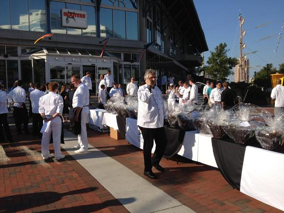 Chefs gather for the OpSail Fleet Chefs Challenge
