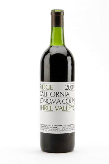 2009 Ridge 'Three Valleys' Zinfandel