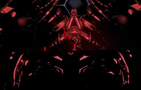 Afrojack performs at Coachella