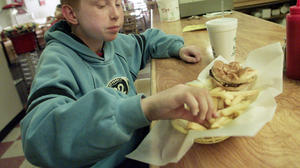 Kids don't eat less when serving themselves