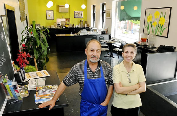 Sharif and Laila Basharyar, owners of Laila's Kitchen on East Franklion Street in Hagerstown, are selling the business.