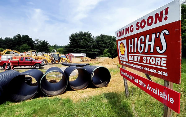 Construction is under way on a High's Dairy Store on Jefferson Boulevard near Smithsburg.