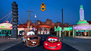 "Like opening the door to Oz, walking into <a title=""Preview: Cars Land tuning up at Disney California Adventure"" href=""http://articles.latimes.com/2011/oct/20/news/la-trb-radiator-springs-cars-land-disney-10201120"">Cars Land</a> at Disney California Adventure is like stepping into a real-life version of the fictional town of Radiator Springs from the 2006 animated movie."