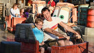Mater's Junkyard Jamboree combines an old-fashioned whip ride with a spinning teacup platform to deliver a truckload of thrills much wilder than you might expect from its mild appearance.