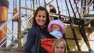 Lia, Kate, Kimberly, and Elle McAllister from Costa Mesa visit the Mayflower in Plymouth, Mass.