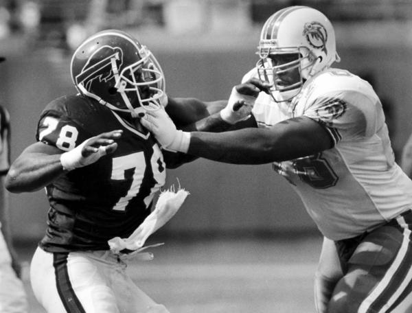 Seven-time Pro Bowl selection at left tackle, Webb spent the 1990s battling Bruce Smith and the NFL's best edge rushers for Dan Marino.