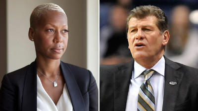 Kelley Hardwick, a security official from the National Basketball Association, is suing Geno Auriemma.