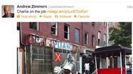 "In Baltimore Tuesday filming for his Travel Channel show ""Bizarre Foods America,"" Andrew Zimmern is steadily Tweeting out gorgeous Instagram images from his visit."
