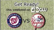 Get ready! The Nationals take on the New York Yankees at Nationals Park.