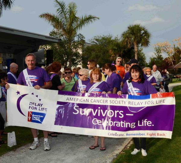 "Hundreds of cancer survivors and supporters recently gathered at Jaco Pastorius Park for the annual ""Relay For Life of HOPE/Oakland Park"" event that raised more than $51,000 for the American Cancer Society."