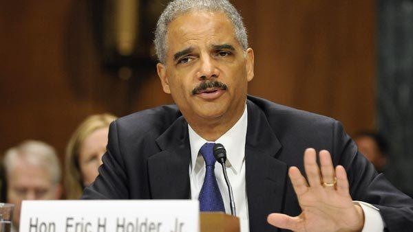 U.S. Attorney General Eric Holder testifies before the Senate Judiciary Committee on Capitol Hill in Washington today.