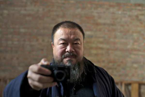 artist Ai Weiwei in a scene from Alison Klayman's new movie 'Ai Weiwei: Never Sorry.'