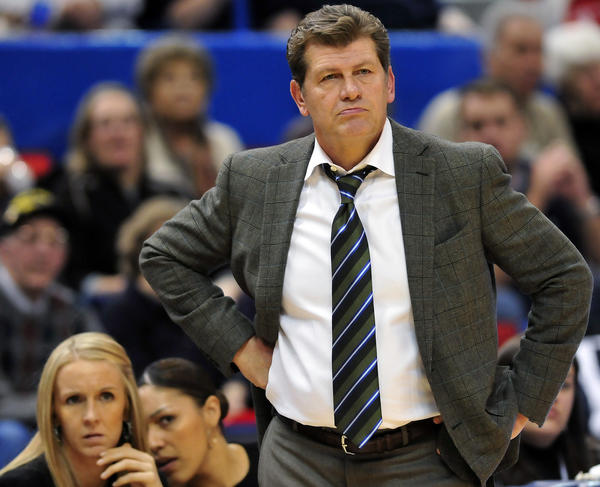 "UConn women's basketball head coac Geno Auriemma has called the allegation that he accosted an NBA security official and then retaliated against her ""beyond false."""