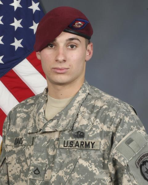 U.S. Army Alaska officials say Pfc. Nathan Tyler Davis, 20, died Saturday from injuries he sustained when his Mine-Resistant Ambush-Protected vehicle was hit by an improvised explosive device in in the city of Tore Obeh, in Afghanistans Khowst province. Three other soldiers were wounded in the incident.