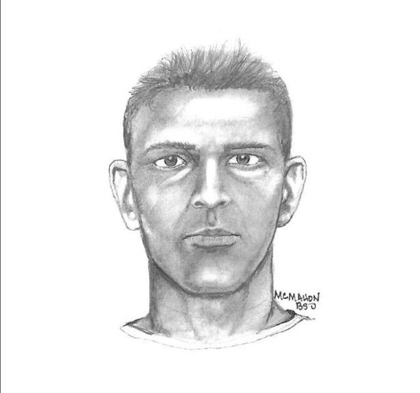 The victim gave a police sketch artist a description of her attacker.