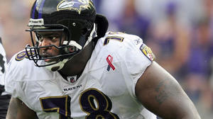 Ravens begin minicamp without McKinnie, Birk