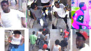Chicago police have released surveillance photos of a group of teenagers who they say attacked a man after stealing his wife's  iPhone on the Red Line subway downtown over the weekend.